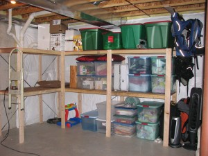 Luke's basement organization.