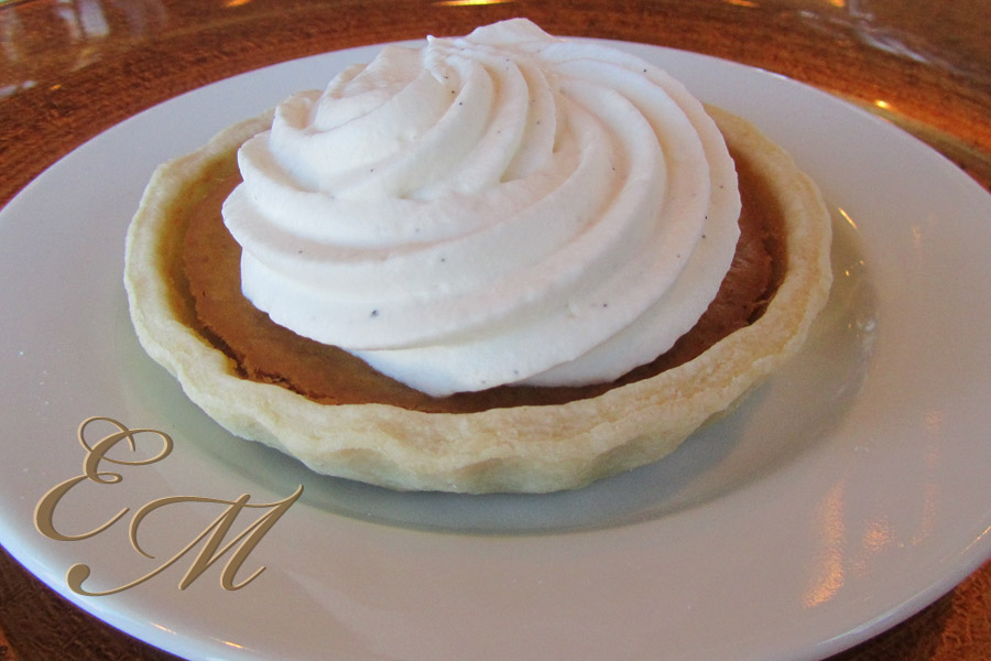 Brandied Pumpkin Pie with Chantilly Cream