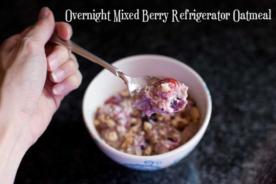 ... Kitchen , Recipes » Overnight Mixed Berry Refrigerator Oatmeal