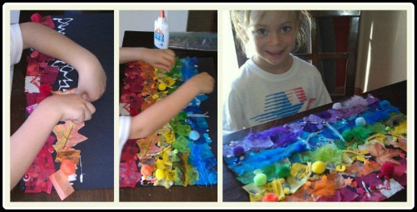 Spring rainbow activity. Keep's kids busy forever!