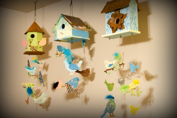 Bird themed nursery mobile