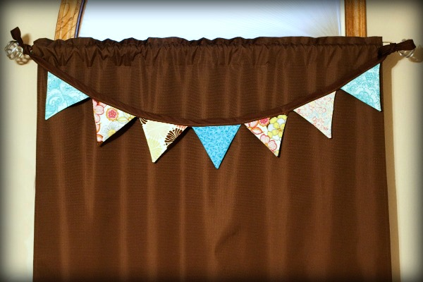 turquoise and brown bunting